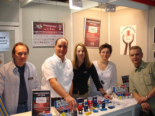"STAMPEX team on the ""boot"" fair"