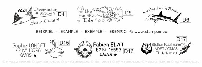 Mobile Stamp S20/722 - 28,00€ Beispiele