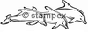 diving stamps motif 3301 - Dolphin