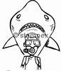 diving stamps motif 2303 - Shark