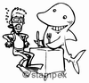 diving stamps motif 2304 - Shark