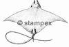 diving stamps motif 3605 - Ray/Skate