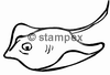 diving stamps motif 3613 - Ray/Skate
