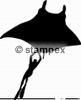 diving stamps motif 3620 - Ray/Skate