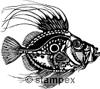 diving stamps motif 3073 - Tattoo